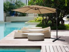 Brand New Milano Outdoor 3 Meter Cantilever Umbrella - Latte