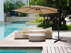 Brand New Milano Outdoor 3 Meter Cantilever Umbrella - Latte