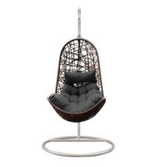 Brand New Arcadia Hanging Outdoor Egg Chair Premium Curved Style - Oatmeal & Grey