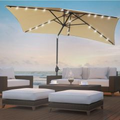 Brand New Arcadia Furniture Beige Outdoor 3m Garden Umbrella