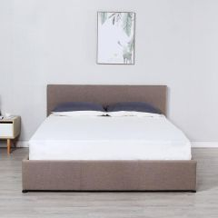 Brand New Milano Luxury Gas Lift Bed Frame with Bedhead - Beige - King