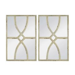 Brand New Riccione Lux Rustic Carved Wall Mirror Set