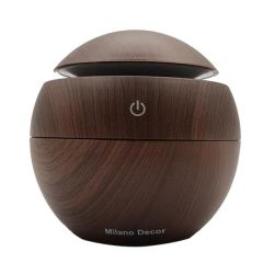 Brand New Milano USB Diffuser + 10 PK Essential Oil - Dark Wood Grain