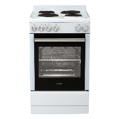 Euromaid FFS5463W Electric Single Cavity Oven+Solid Cooktop - Factory Seconds 2nd