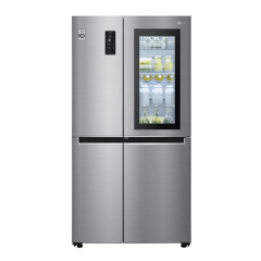 LG GS-VB680PL 687L Stainless Side by Side Fridge w/InstaView Door-In-Door® - Factory Seconds 2nd
