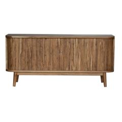 Brand New Riccione Lux Slatted Hand-Crafted Hardwood Sideboard