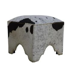 Brand New Riccione Lux Hand Made Hand Crafted Cow Ottoman