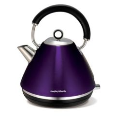 Brand New Morphy Richards 1.5L Plum Accents Traditional Pyramid Kettle
