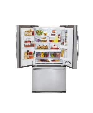 LG GR-D907SL 907L Stainless 3 Door French Refrigerator - Factory Second 2nd